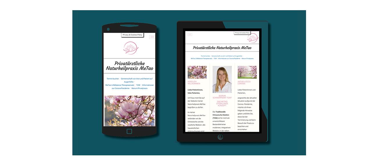 Mobil- und Tablettdarstellung Dr. Magdalena Gameiro